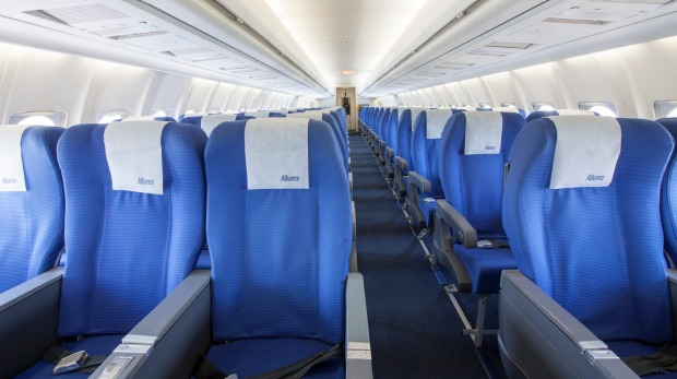 Economy seats on Alliance's Fokker 70.