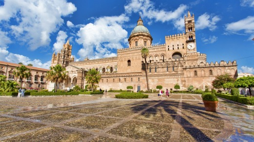 The beautiful Cathedral of Palermo.