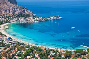 Mondello, an old fishing village that has morphed into one of Palermo's most desirable seaside resorts.