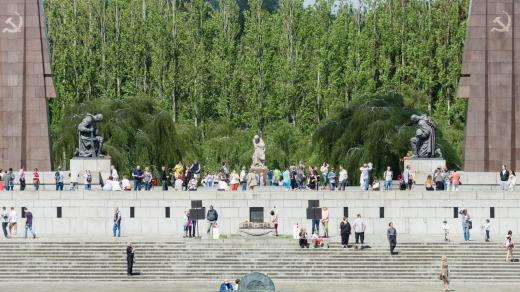 Treptower Park has a guaranteed future: under the terms of its unification Germany is required to pay for the upkeep of ...