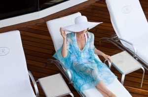 Relaxing in style with Regent Seven Seas.