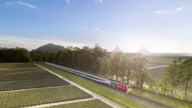 The Spirit of Queensland: ''In a train you're in the landscape, but not of the landscape''.