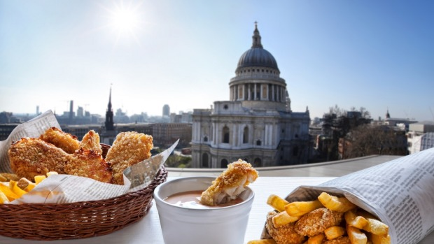 Fish and chips: Classic England.