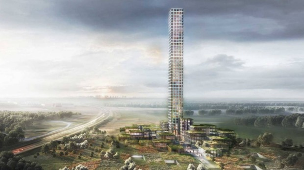An artist's impression of the tower, which will be 320 metres high.