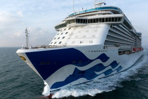 Majestic Princess during sea trials.