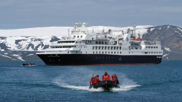 A Zodiac excursion in Antarctica with Silver Explorer.