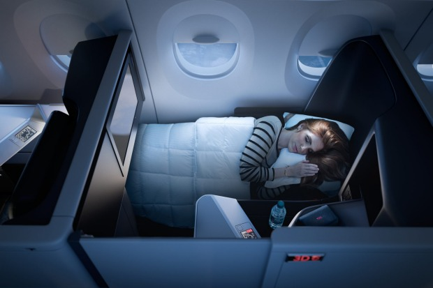 One Suite business class on Delta's upgraded Boeing 777, Sydney to Los Angeles.