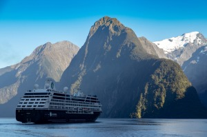 Azamara Quest in Milford Sound, South Island, NZ.