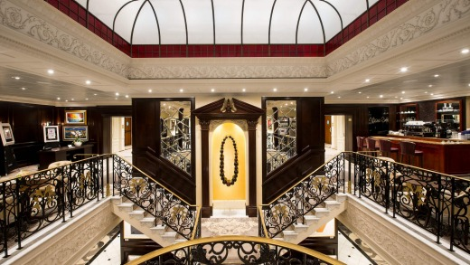 The opulent stairwell.
