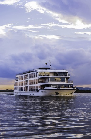A Scenic river cruiser on the Irrawaddy.