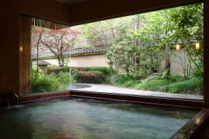 Don't jump in: An onsen in Japan.
