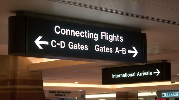 There are 29 airport pairs that stand a dozen connections apart.