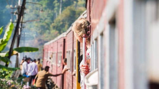 The train trip from Kandy up through the mountain mist to Ella is considered one of the most beautiful, especially for ...