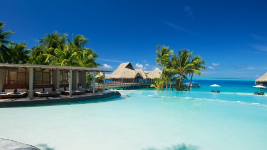 A chance to experience a classic French Polynesian luxury overwater bungalow resort without actually staying there.