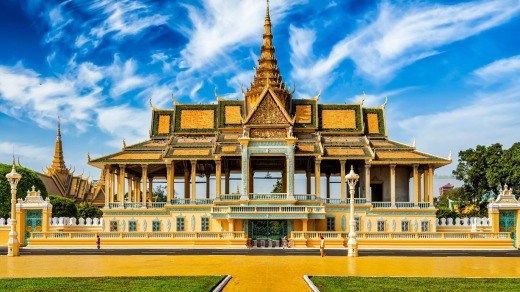 The Royal Palace complex in Phnom Penh.