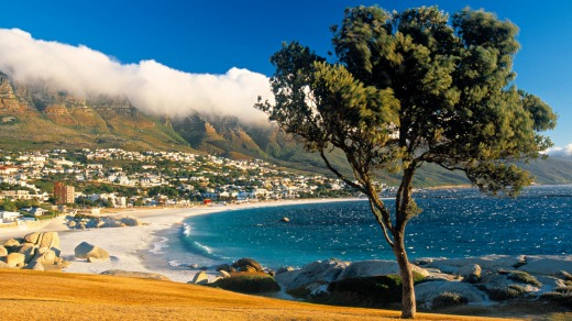 Clifton Bay and beach in Cape Town, South Africa.