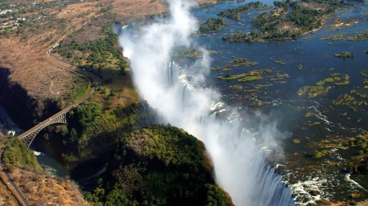 "Intrepid Travel has a 64-day ""Africa Encompassed Northbound"" trip, including Victoria Falls."