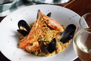 At Hermion restaurant, try the kritharoto: orzo pasta with fresh seafood such as mussels, prawns, squid and cuttlefish ink.