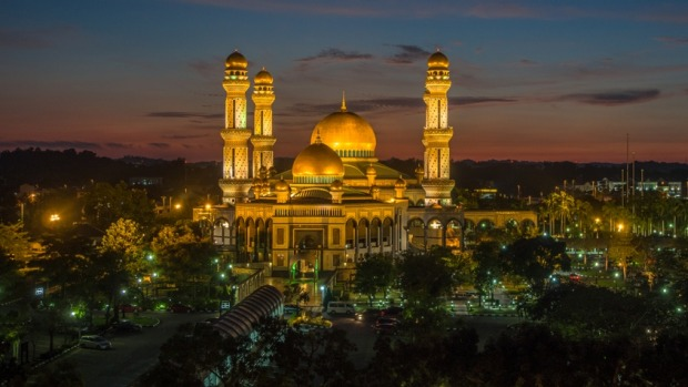 One of two national mosques in Bandar Seri Begawan, the capital of Brunei, which is one of 40 countries where ...