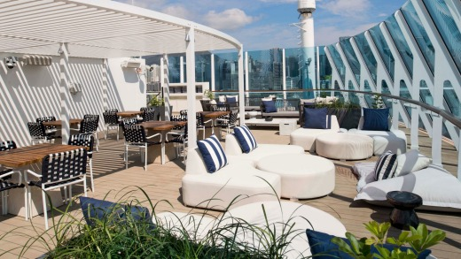 The Retreat sun deck, seen here on Celebrity Millennium, is a new feature on Celebrity Summit.