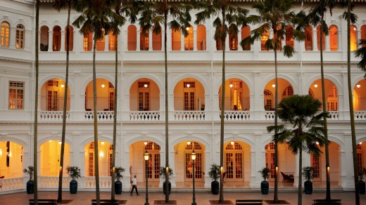 The historic Raffles Hotel is about to re-open after refurbishment.