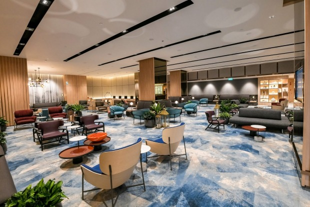 Interior of Changi Lounge.