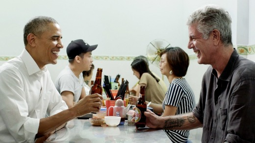 Anthony Bourdain and President Obama sat down for a meal in Hanoi.