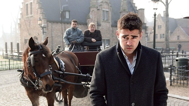 Colin Farrell in a scene from the movie In Bruges.