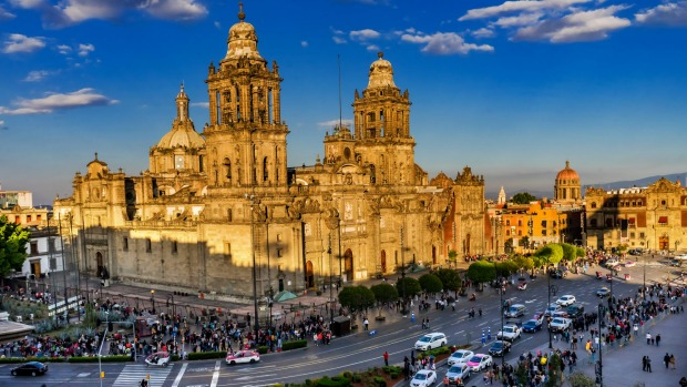 Mexico City's Metropolitan Cathedral, the oldest and largest cathedral in all of Latin America.