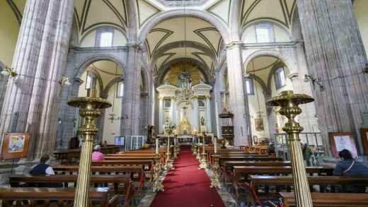 Mexico's Metropolitan Cathedral is tilting.