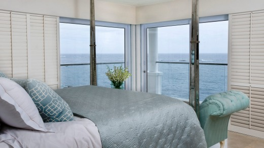 Rooms and suites are mostly sea or mountain-facing and both offer sumptuous views.
