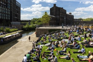Granary Square was once a canal basin, where barges would unload goods. It's still a hive of activity, with a year-round ...