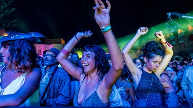 The crowd rocks at the Festival Musicas do Mundo in Sines, Portugal.