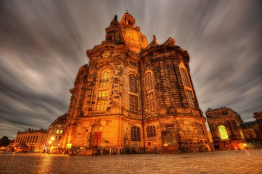 The Frauenkirche, Dresden: This 18th century baroque masterpiece, with an audacious 96 metre high dome, was left in ...