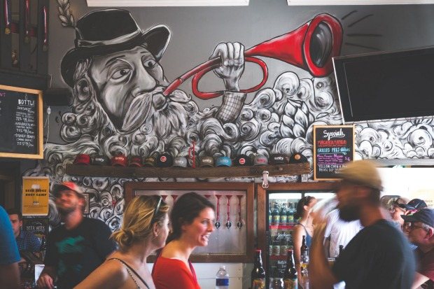 REVELRY BREWING COMPANY  In Charleston's industrial area, this fun hangout is easily the best spot in town for a ...