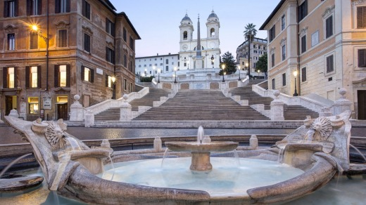 Stroll down the Spanish Steps and you're in the heart of the city's shopping district.