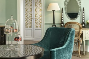 Many of the hotel's furnishings and fabrics have been sourced from local artisans.