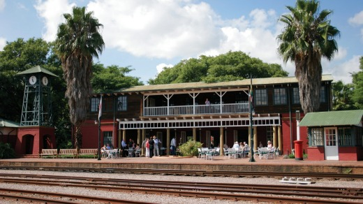 The elegant, privately owned railway station sets the tone for the three-day, two-night, 1600-kilometre trip.