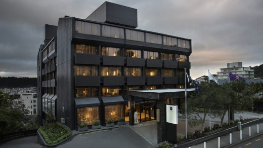 Darth Vader-esque? The updated Hotel Grand Mercure in Wellington.