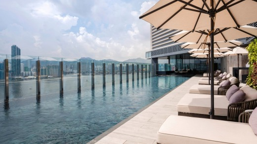 Sublime views from the top: The roof top pool.