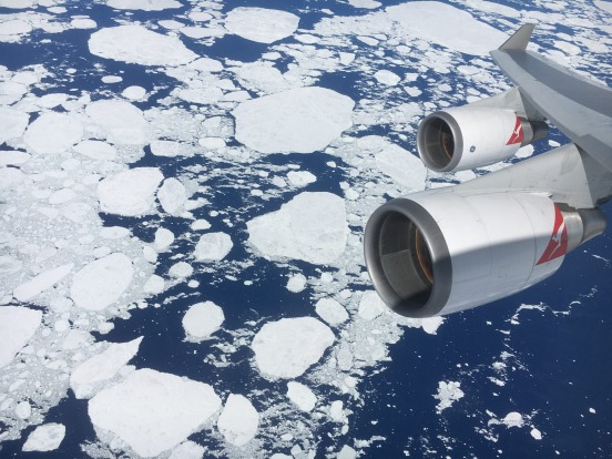 The four engines of the Qantas 747 meant it was certified to do scenic day-trip flights from Australia to Antarctica, ...