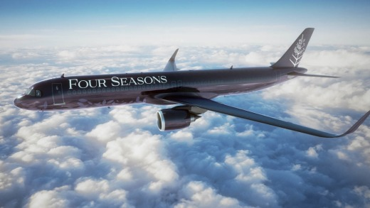 A narrow-body Airbus A321LR aircraft, part of the new Airbus NEO family, will be tailored by Four Seasons and have room ...