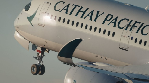 A Cathay Pacific Airbus A350.