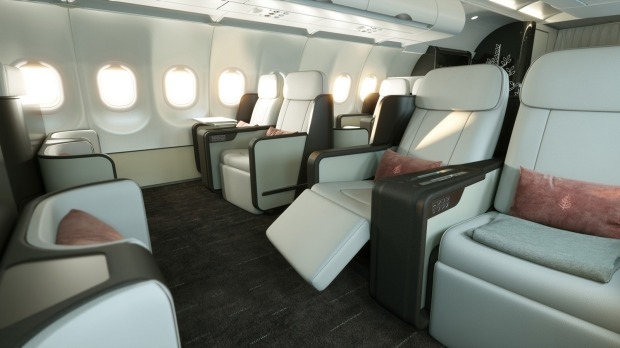 The seating area has been similarly re-thought to emphasis socialising. Custom-made seats by Optimares, with leather ...
