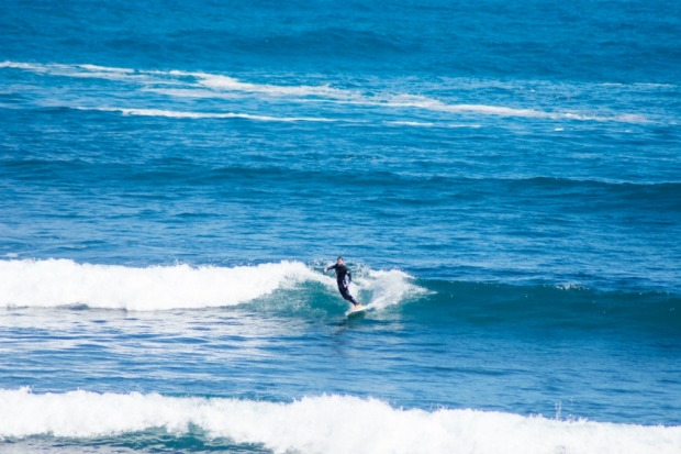 Two near-perfect left hand breaks, and one right hand break combine to make the schlep worth it for avid surfers.