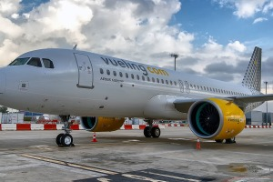 Vueling awards its planes pun-laden monikers. One of the writer's favourites is 'Air Force Juan'.