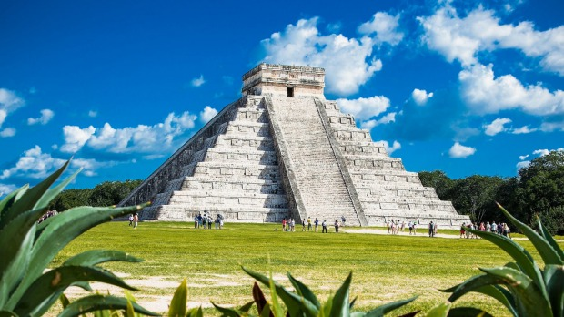 The ancient pyramids of Mexico.