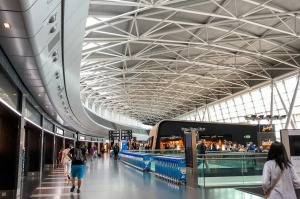 Zurich,Switzerland - 06-05-2018 : the waiting hall in Zurich Airport, also known as Kloten Airport, is the largest ...