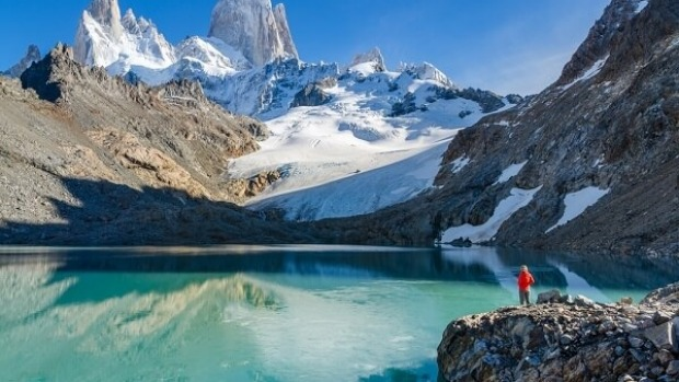 Admire the spectacular FitzRoy peaks while in Chile.