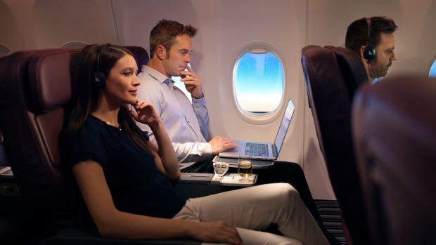 The business class seats are perfectly comfortable for such a short-haul flight.